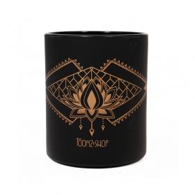 "Taza \""Lotus Spirit\"", Negro y cobre"