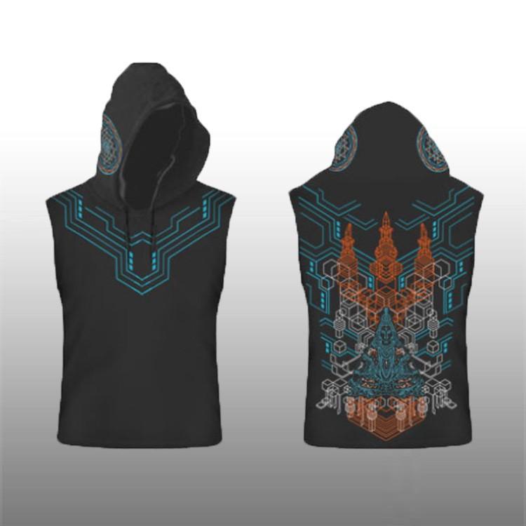 """Tee Shirt Shaman \""""Trishula 3D\"""", Black"""