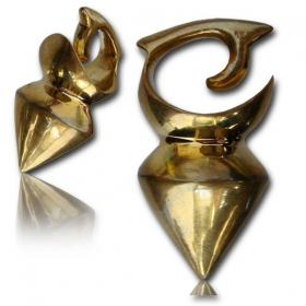 "\""Tidaya\\\"" Brass ear jewel / Weight"