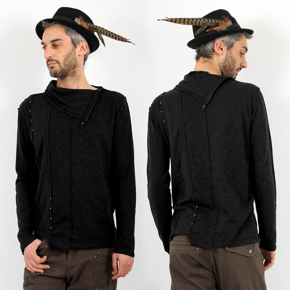 """Tilted Remix\"" Psylo Jumper, Black"