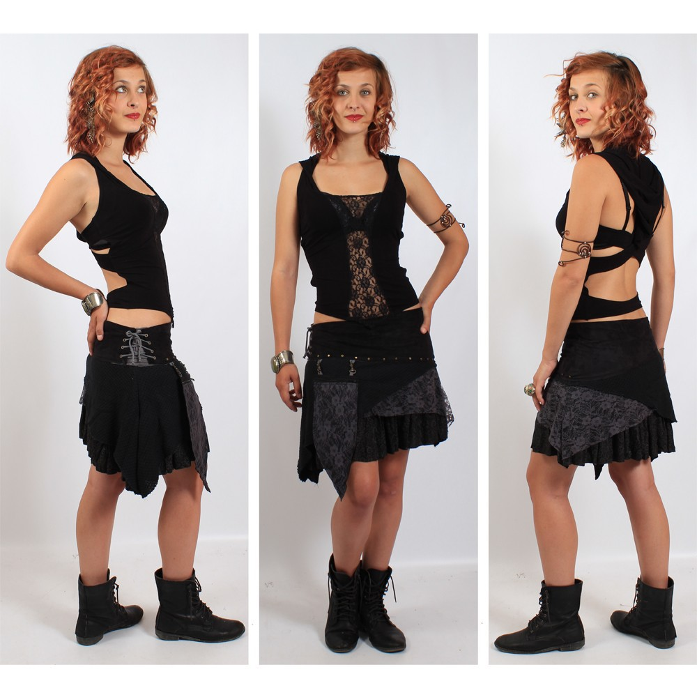 "Top liloo \""lace\\\"", black-black"