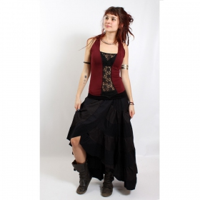"Top liloo \""lace\\\"", deepred-black"
