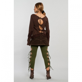 "Top Luna ""Elfin open back\"", Brown"