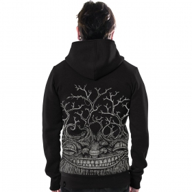 "\""Treep\"" zipped hoodie, Black"