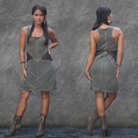"""Triangle\"" dress, Khaki"