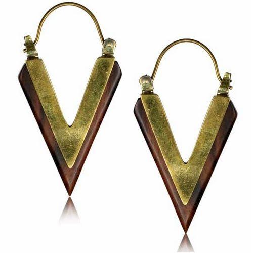 "\\\""Trikon\\\"" earrings"