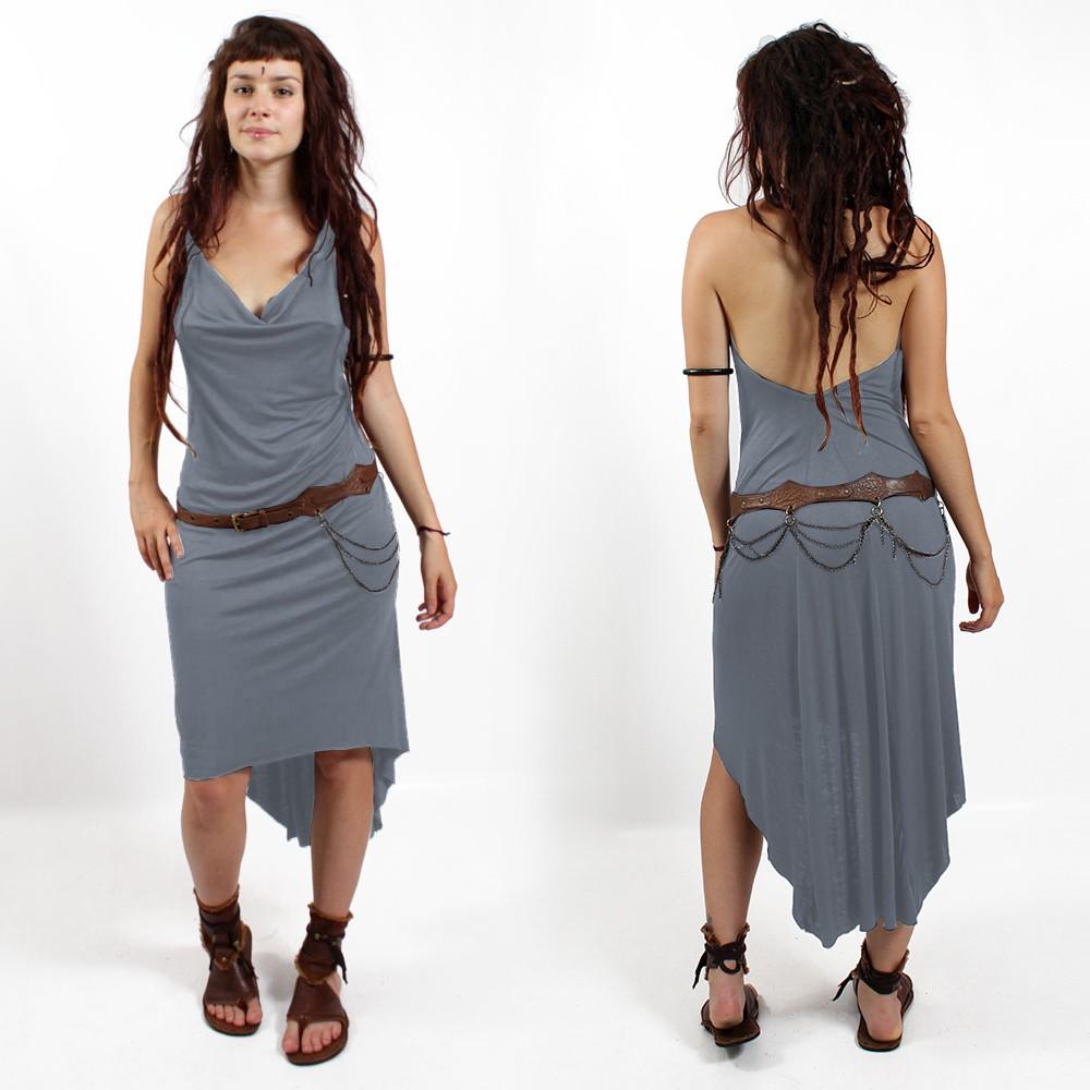 "\""Trisha\"" Dress, Grey blue"