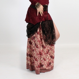 """Utopia\"" skirt, Deepred with patterns"
