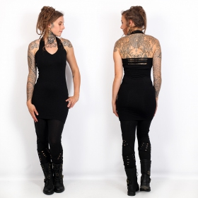 "Vestido \""Aleya\"", Negro"