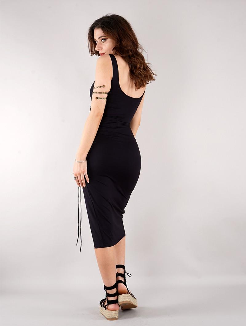 "Vestido \""Angelina\"", Negro"