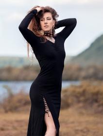 "Vestido \""Aryäa\"", Negro"