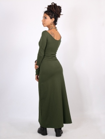 "Vestido \""Aryäa\"", Verde oliva"
