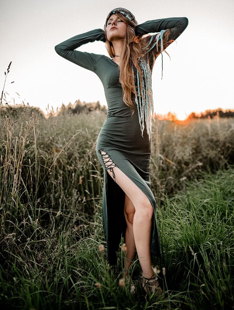 "Vestido \""Aryäa\"", Verde pato"