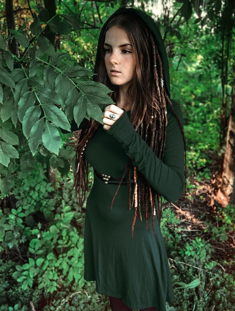 "Vestido \""Chryzz\"", Azul petróleo oscuro"