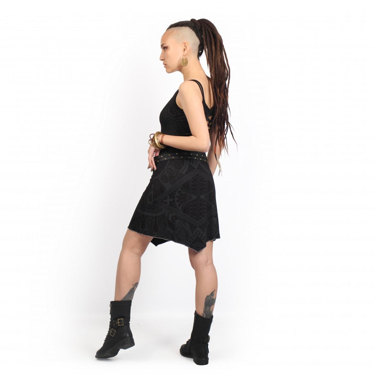 "Vestido \""Electra Africa\"", Negro"