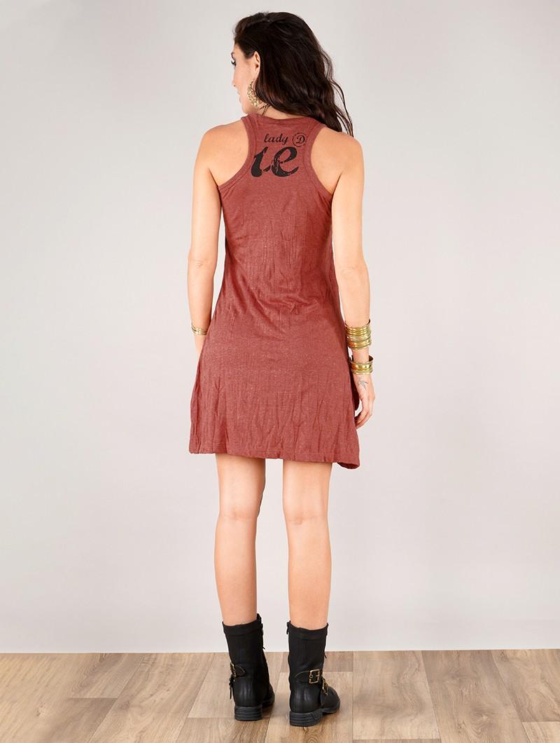 "Vestido \""Flower\"", Rojo oscuro"