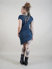 "Vestido \""Fringga\"", Azul petróleo"