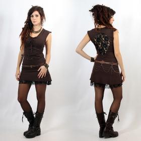 """Vestido \""""Jadeite\"""", Marrón y negro"""