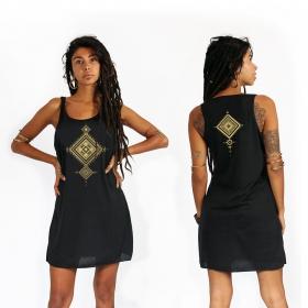 """Vestido \""""Maaloo\"""", Negro y dorado"""