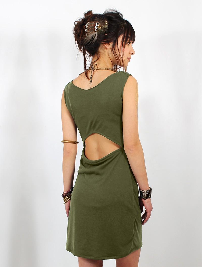 """Vestido \""""May-Lï\"""", Verde oliva"""
