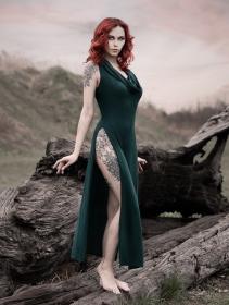 """Vestido \""""Nephilim\"""", Verde pato"""