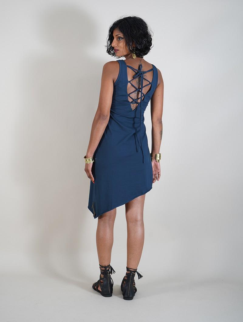 """Vestido \""""Nova\"""", Azul petróleo"""