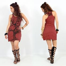 "Vestido \""Ohm tree\"", Rojo oscuro"
