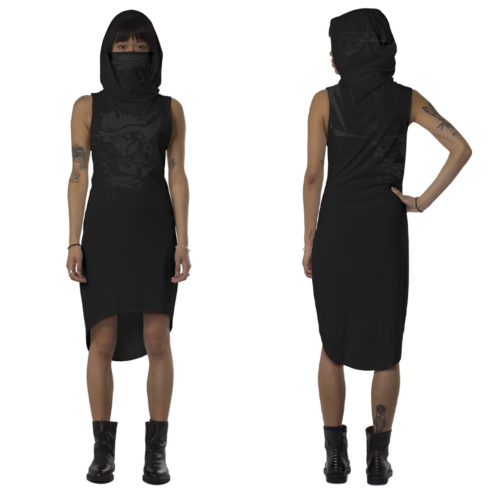 "Vestido \""Ra\"", Negro"