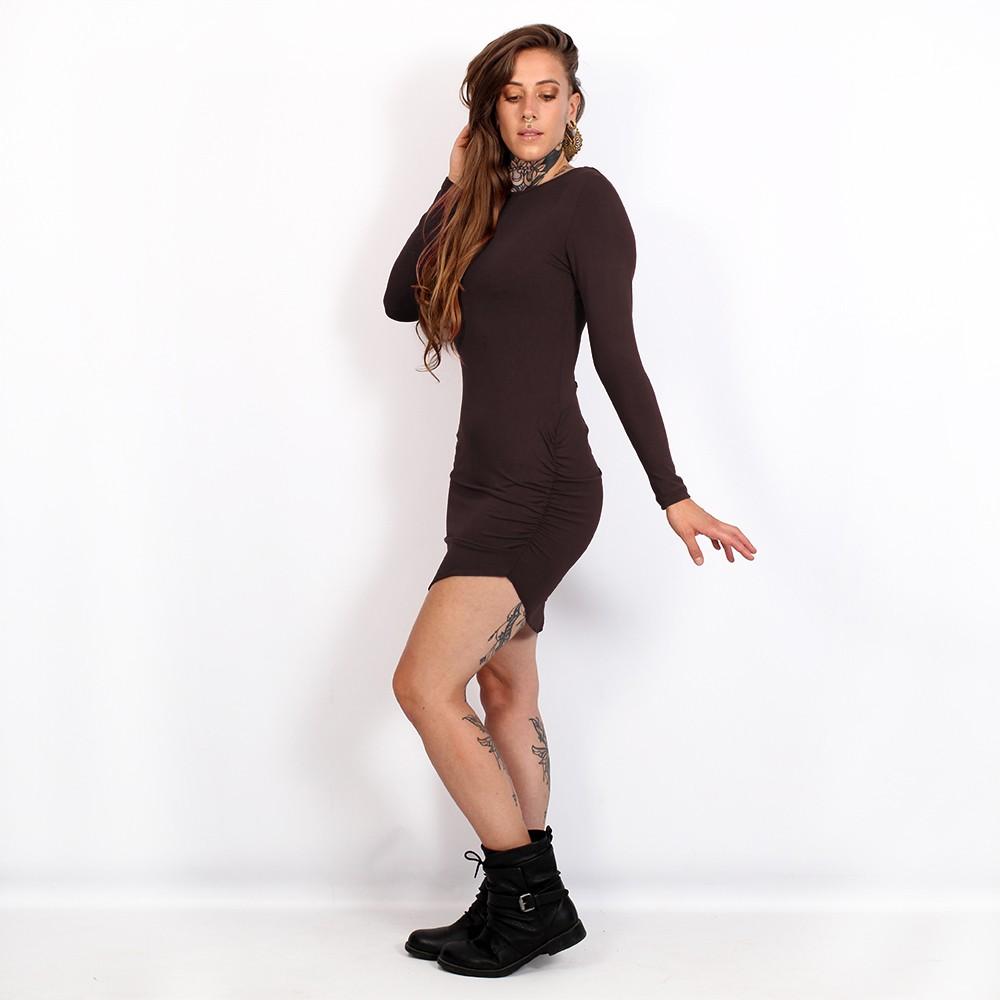 """Vestido \""""Ritaa\"""", Marrón"""