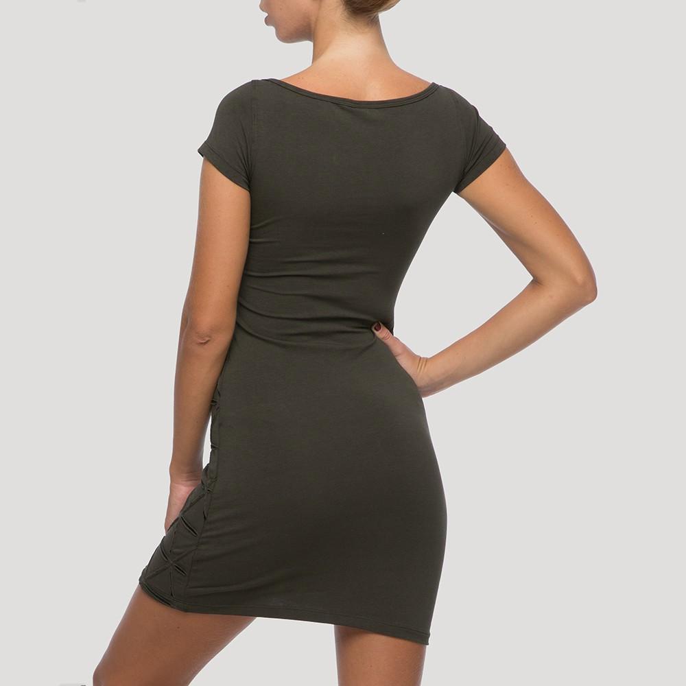 """Vestido \""""Tangled\"""", Verde caqui"""
