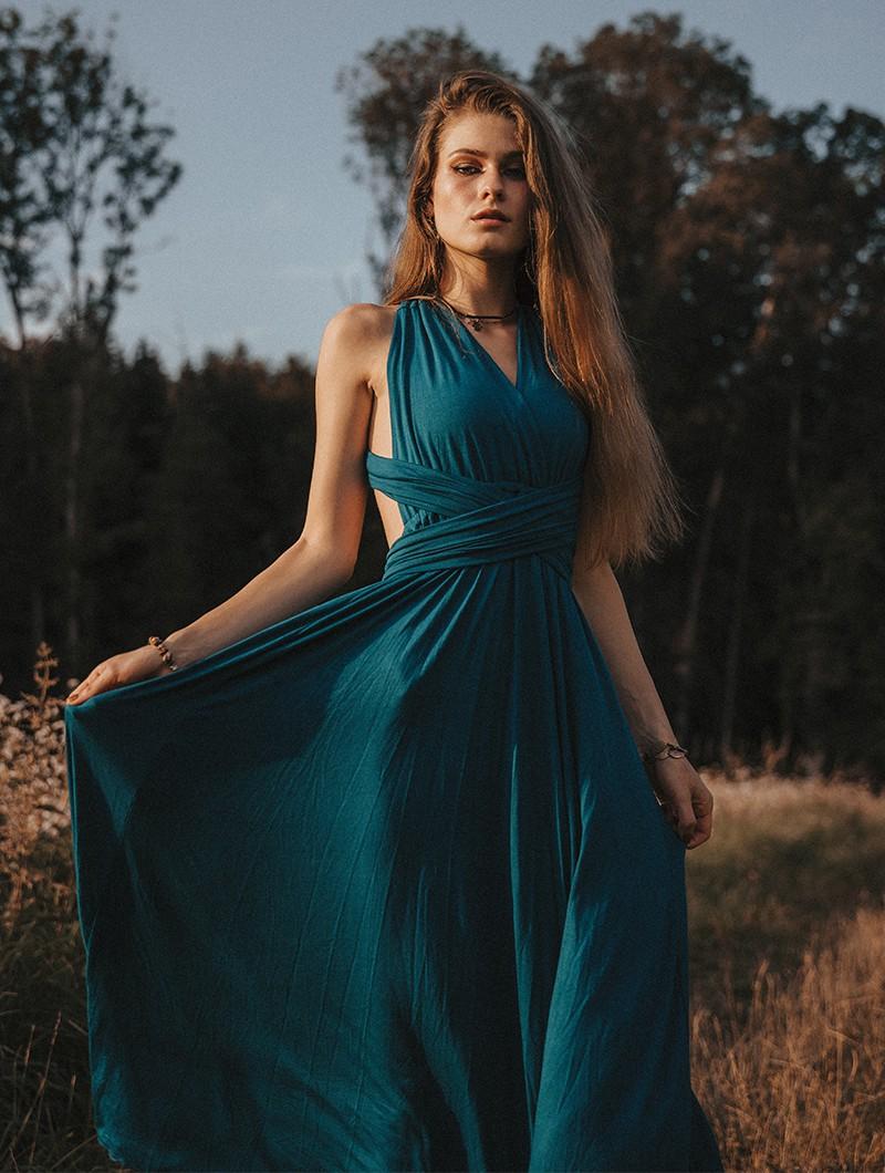 "Vestido \""Wakiza\"", Azul"