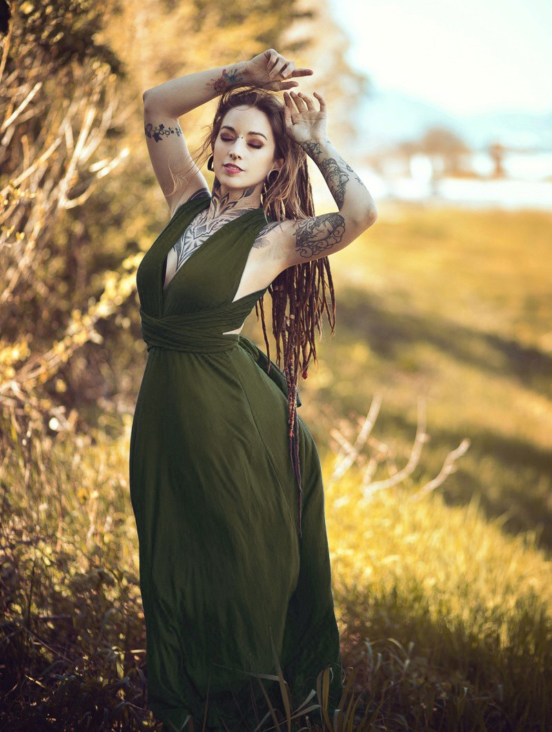 "Vestido \""Wakiza\"", Verde oliva"