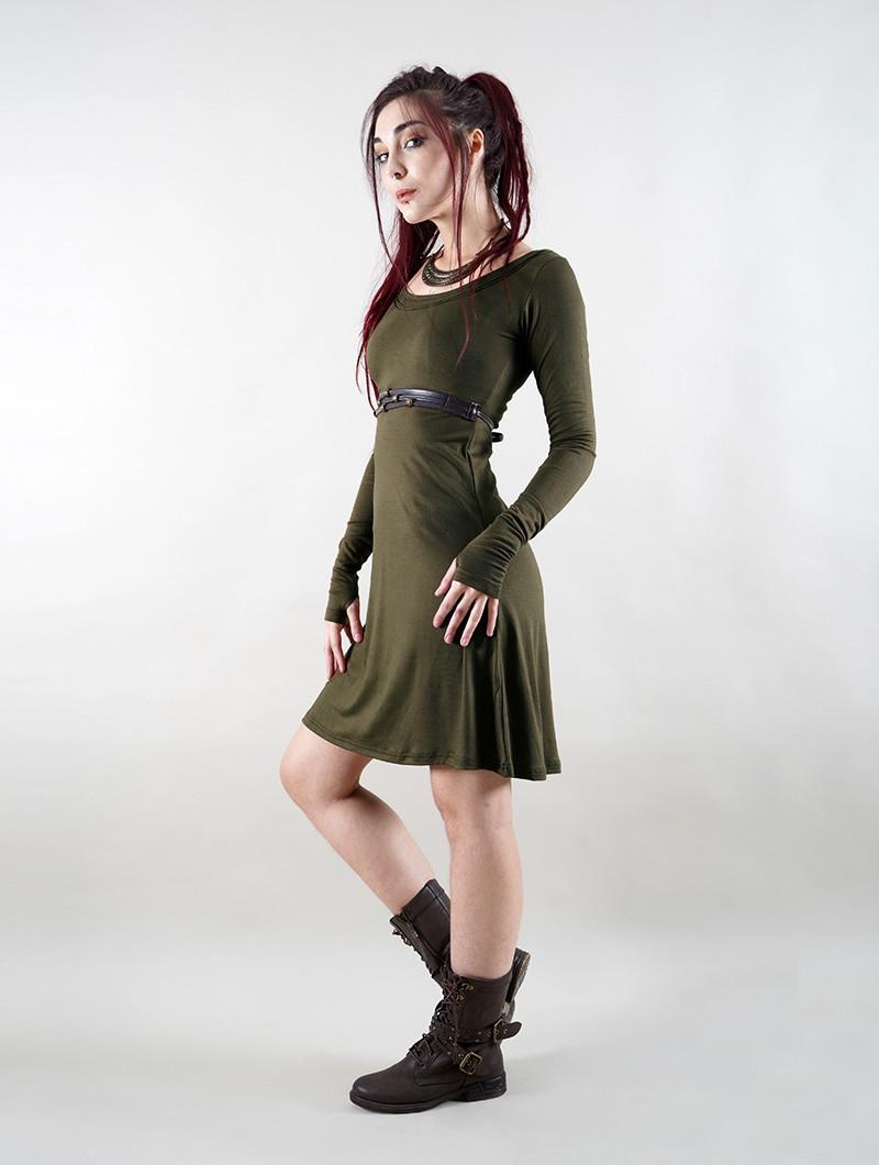 """Vestido \""""Ysïaa\"""", Verde caqui"""