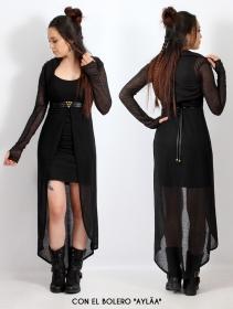"Vestido asimétrico ""Marrakech"", Negro"