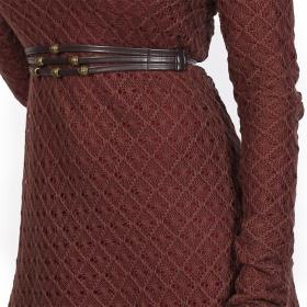 """Vestido con forro de ganchillo \""""Alchemÿa\"""", Burdeos"""