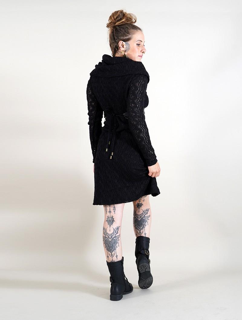"""Vestido con forro de ganchillo \""""Nouchka\"""", Negro"""