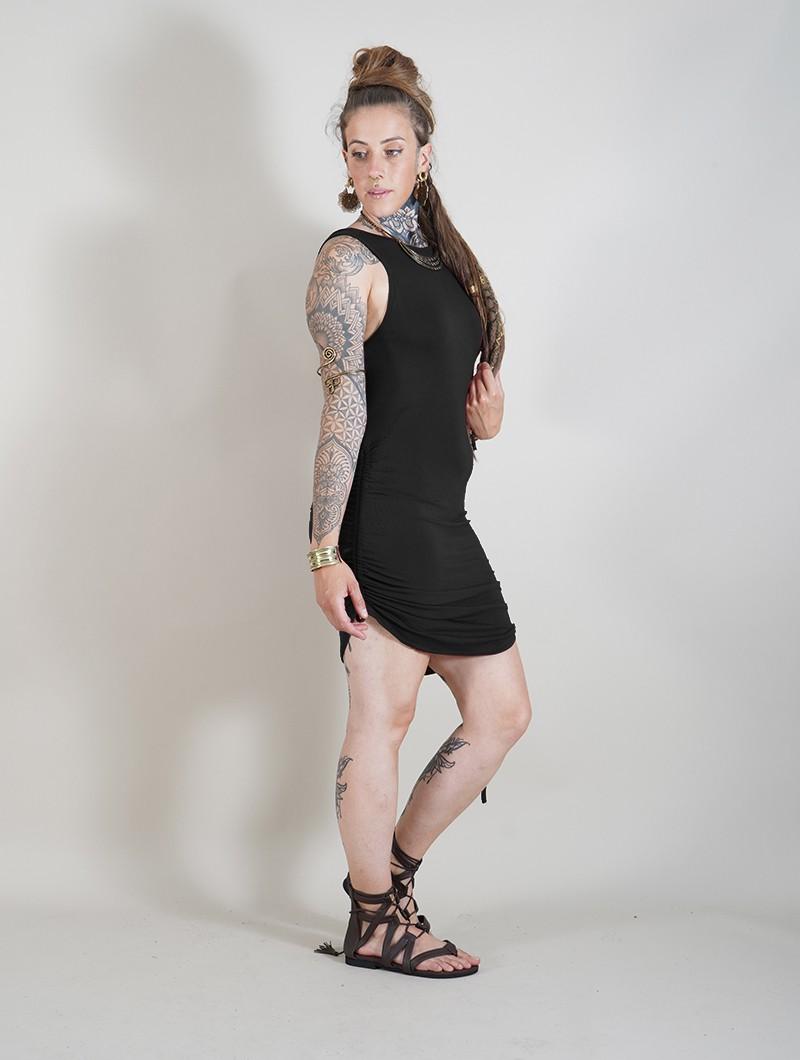 """Vestido corto \""""Fawiza\"""", Negro"""