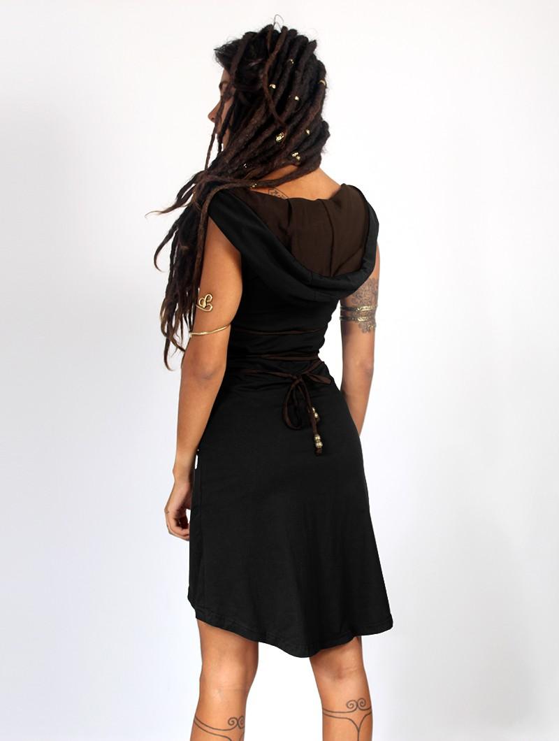 """Vestido corto \""""Liskä\"""", Negro"""