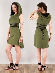 "Vestido corto \""Liskä\"", Verde oliva"