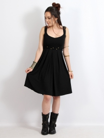 "Vestido corto \""Massaläa\"", Negro"