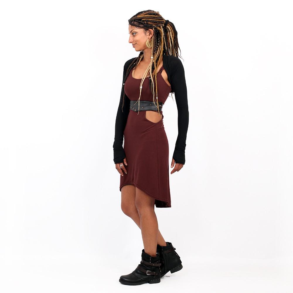 "Vestido corto \""Sheherazade\"", Burdeos"