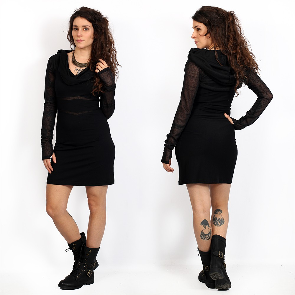 "Vestido corto \""Zoolyä\"", Negro"