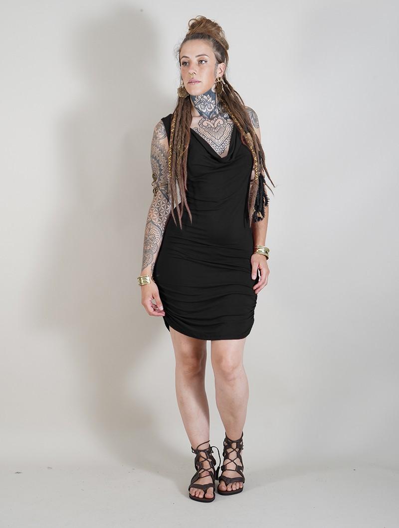 """Vestido corto sin mangas \""""Zelya\"""", Negro"""