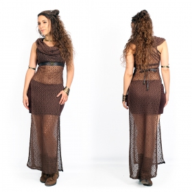 """Vestido de ganchillo \""""Nephilim\"""", Marrón"""