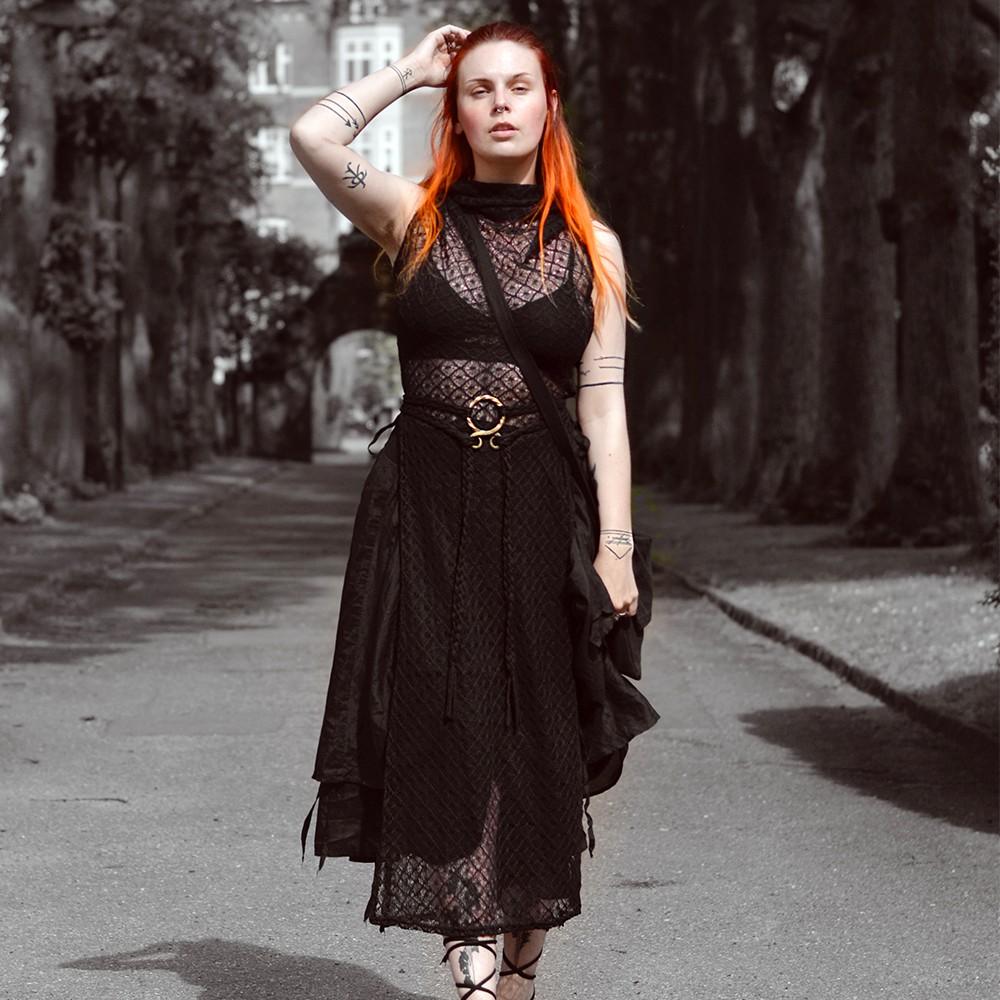 """Vestido de ganchillo \""""Nephilim\"""", Negro"""