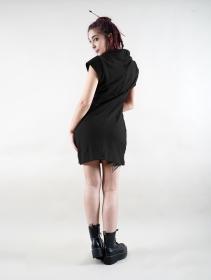 "Vestido de manga corta \""Dewi\"", Negro"