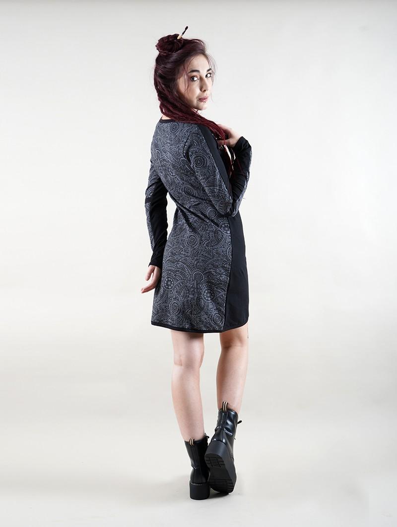 """Vestido de manga larga \""""Heliopolis\"""", Negro"""