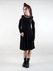 """Vestido de manga larga \""""Leto\"""", Negro"""
