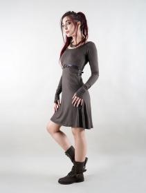 """Vestido de manga larga \""""Ysïaa\"""", Gris carbón"""