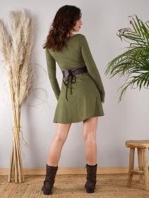 "Vestido de manga larga \""Ysïaa\"", Verde oliva"